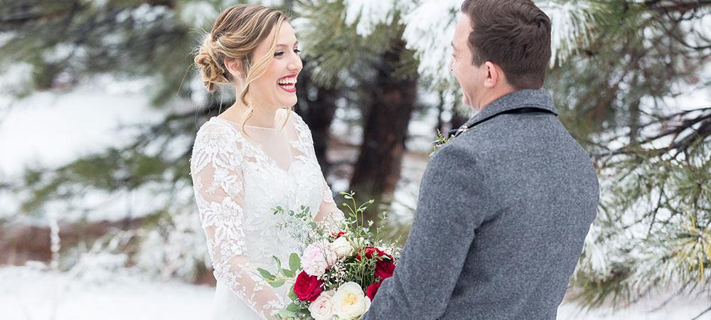 Сукня для зимового весілля